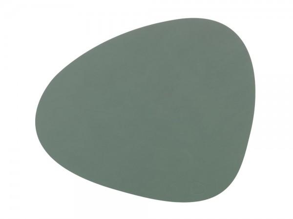 Ledertischset CURVE L 37x44cm Pastel Green