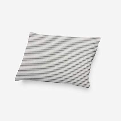 Jersey Kissenhülle MIA mit Streifen grau/weiß
