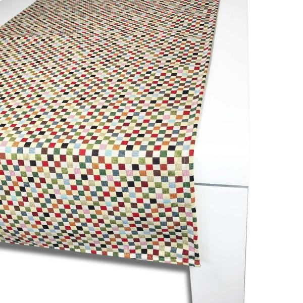 Tischläufer CARO 65x150 cm bunt