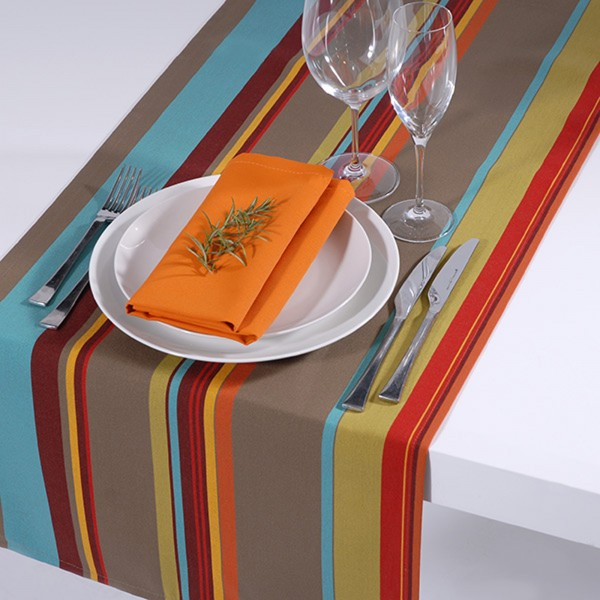 Outdoor-Tischläufer Classline MULTICOLOR TÜRKIS