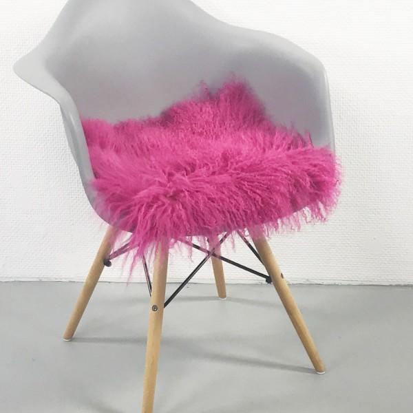 Sitzauflage TIBETLAMM 38x38cm Pink