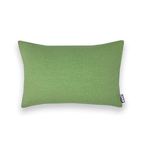 Jersey Kissenhülle MIA 25x40 cm grün meliert