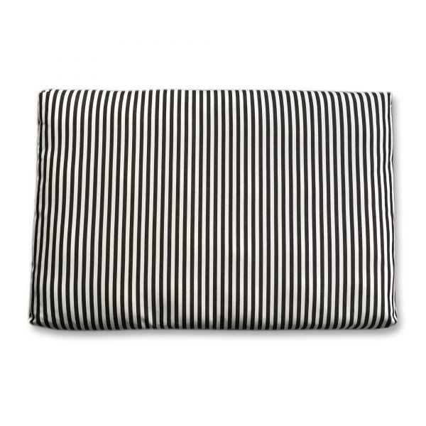 Outdoor-Loungekissenhülle Streifen schwarz/weiss 80x120x10 cm