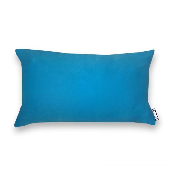 Jersey Kissenhülle MIA 25x40 cm Blau