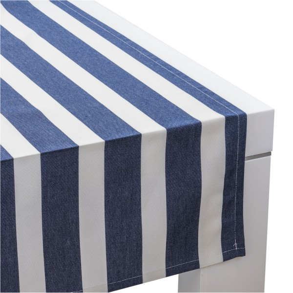 Outdoor-Tischläufer Classline MEDIUM STRIPES DUNKELBLAU