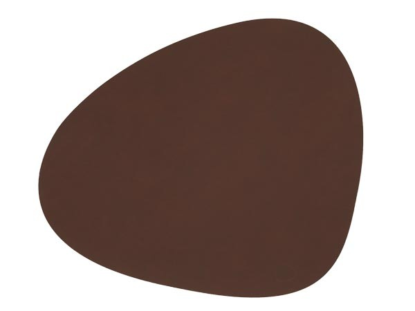 Ledertischset CURVE L 37x44cm Dark Brown