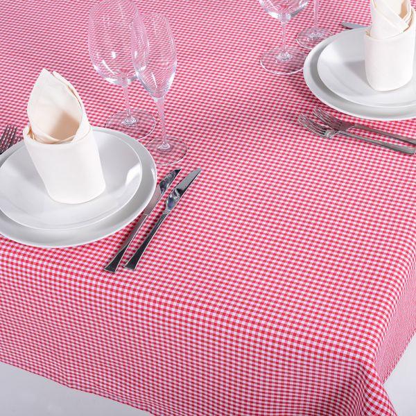 Tischdecke Mini Vichy rot 100x100 cm