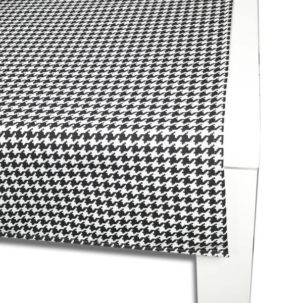 Tischläufer HAHNENTRITT 65x150 cm schwarz/weiß