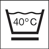 Waschbar bei 40 Grad