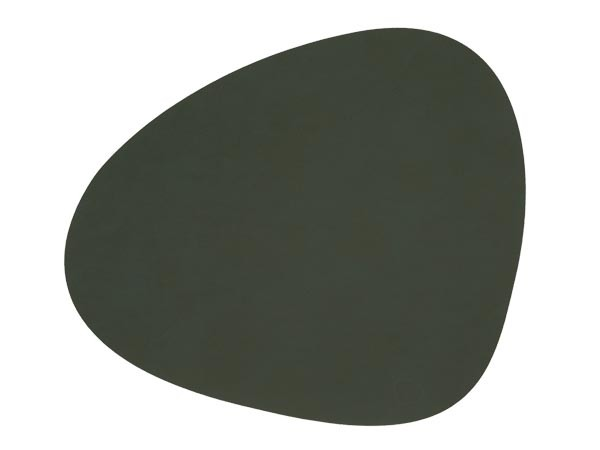 Ledertischset CURVE L 37x44cm Dark Green