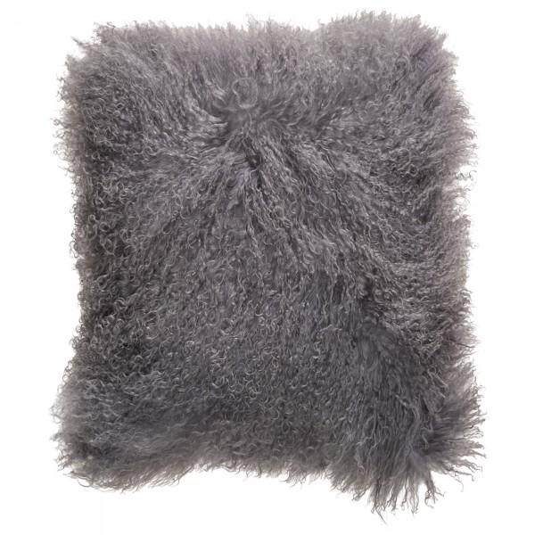 Kissenbezug TIBETLAMM 40x40cm Slate Grey