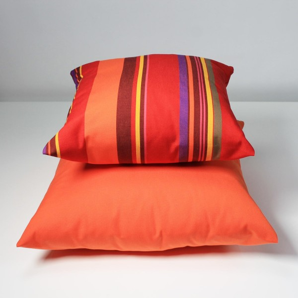 Outdoor Komplett-Kissen im 2-er Set, (Mulitcolor|Orange) Größe 40x40 cm und 50x50 cm