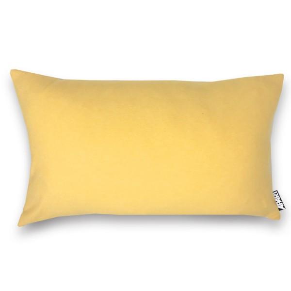 Jersey Kissenhülle MIA 25x40 cm gelb meliert