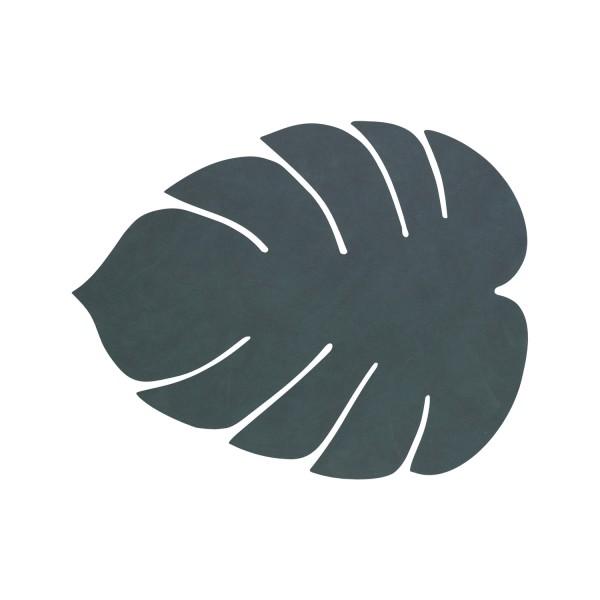Ledertischset Monstera Leaf Nupo Pastell Dark Green
