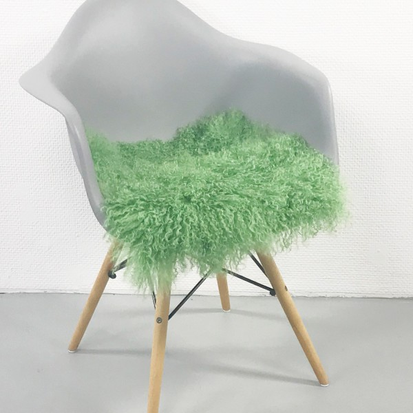 Sitzauflage TIBETLAMM 38x38cm Grasgrün