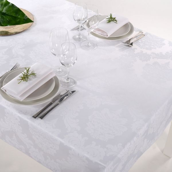 Tischdecke Damasco Weiß
