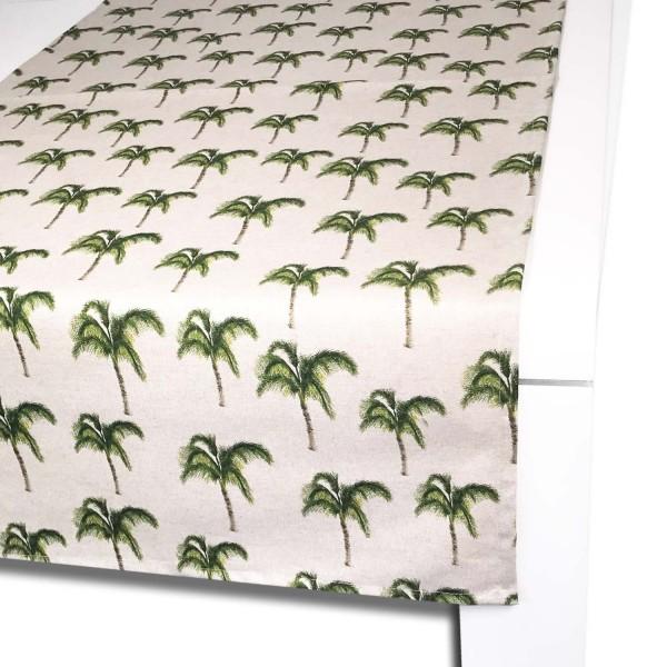 Tischläufer PALMERA 65x150 cm natur/grün