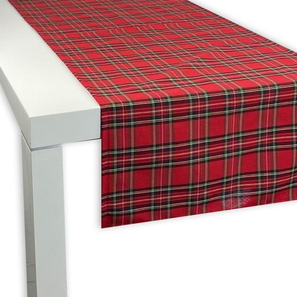 Tischläufer SCOTT ROT 45x150 cm
