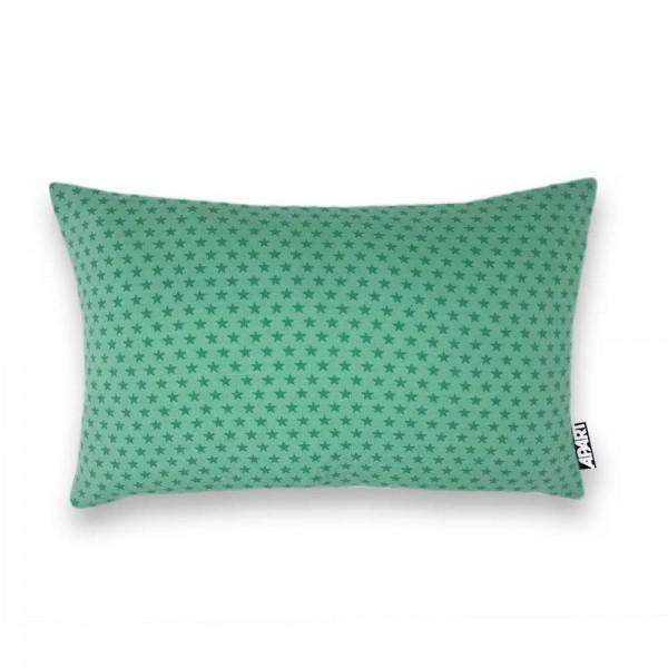 Jersey Kissenbezug Sternchen 25x40 cm grün