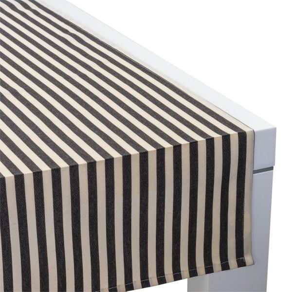 Outdoor-Tischläufer Classline STRIPES Creme/Schwarz