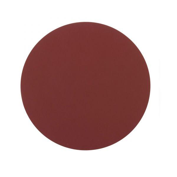 Ledertischset ø40cm Rot