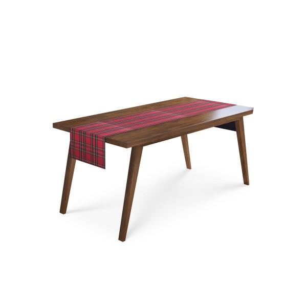 Tischäufer Tartankaro rot/grün