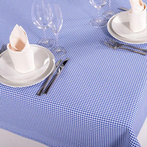 Tischdecke Mini Vichy Blau