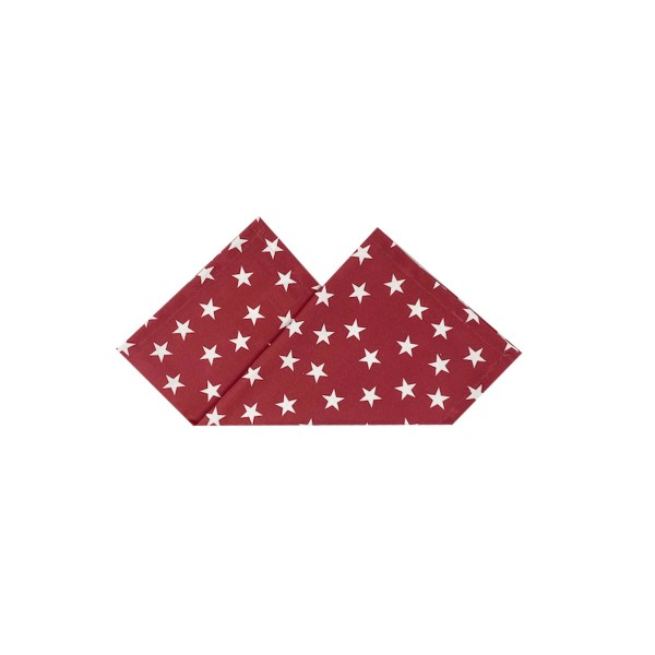 Serviette LITTLE STARS 43x43 cm Rot