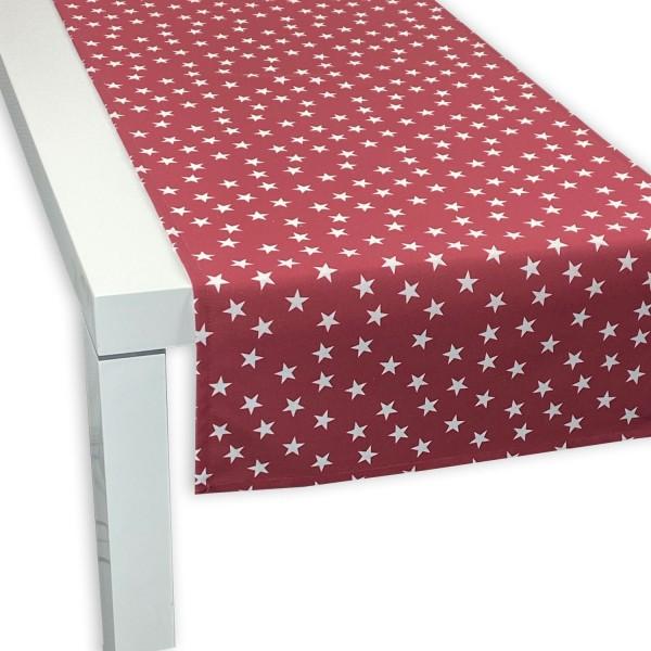 APART Tischläufer Little Stars rot