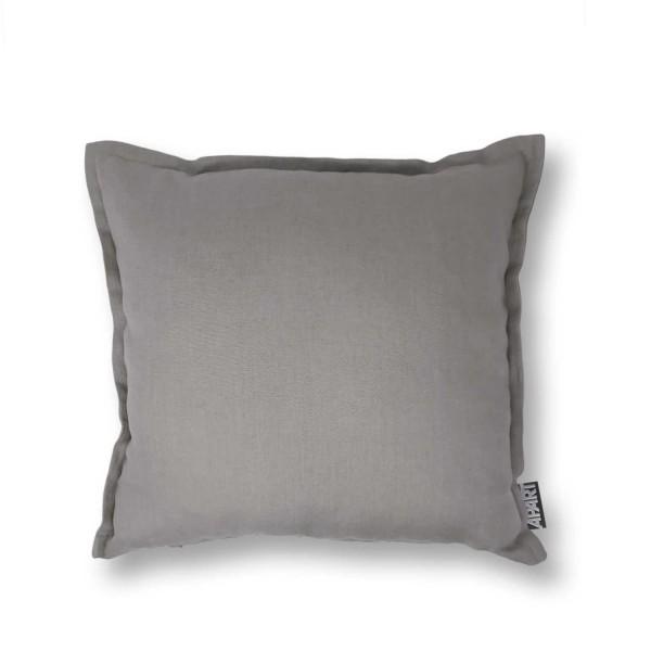 Kissenhülle LINUS  LEINEN 40x40 cm mit Blende Grau