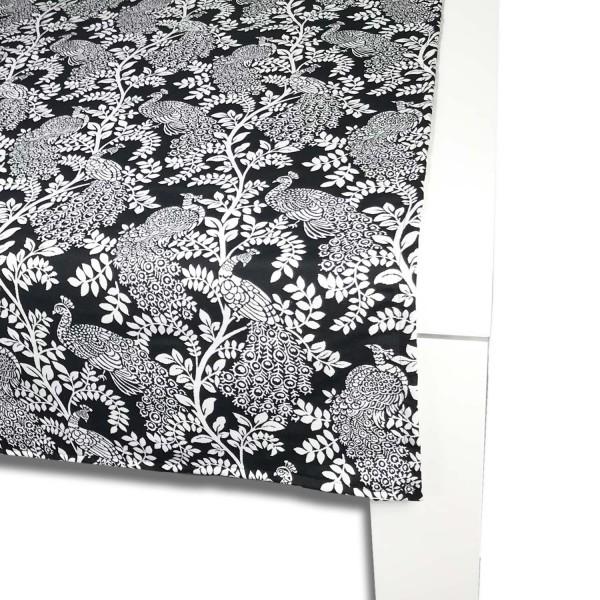 Tischläufer Schwarz Weiß exclusive tischläufer 65x150 cm - mit pfau und blütenranken
