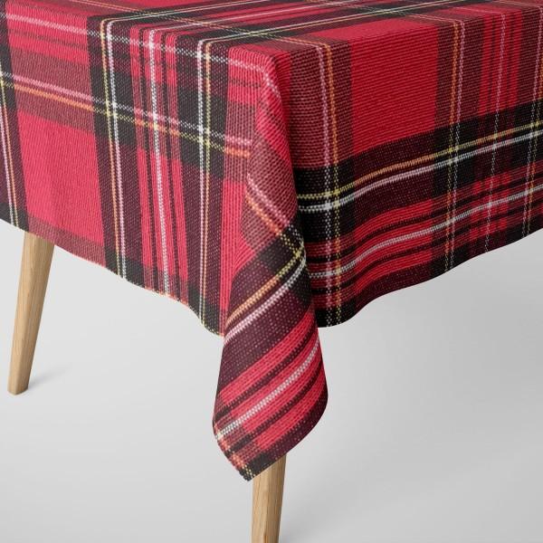 Tischdecke Scott rot