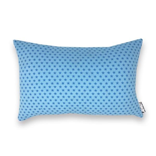 Jerseybezug Sternchen blau 25 x 40 cm