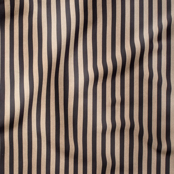 Outdoorstoff STRIPES Sand/Schwarz