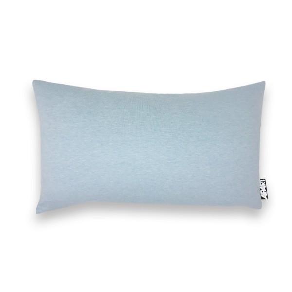 Jersey Kissenhülle MIA 25x40 cm hellblau meliert
