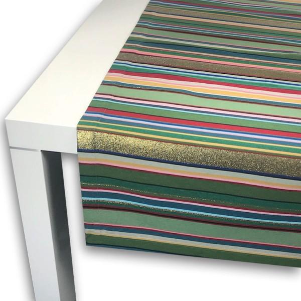 Tischläufer MULTISTREIFEN LUREX 50x150 cm